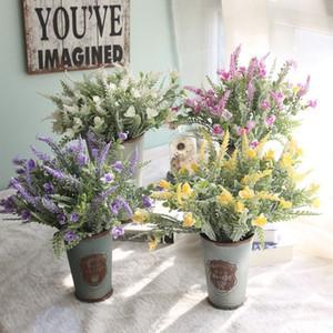 2 unids / lote Artificial Snowy Spring Field Grass Flower Valley Garden Decoración de la boda Muebles para el hogar Envío Gratis