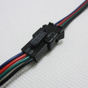 all'ingrosso 100 paia 4pin JST connettore maschio femminile del cavo di SMD 5050/3528 striscia di RGB LED di colore del filo WS2801 LPD8806 striscia di RGB LED