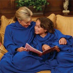Soft Warm Fleece Snuggie Coperta Robe Mantello con maniche accoglienti Wearable Sleeve Blanket Wearable Blanket 3 colori spedizione gratuita