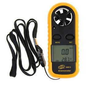 GM816 1 인치 디지털 포켓 핸디 풍력 풍속 풍속계 + 온도계 게이지 Thermomete 1.4 인치 LCD 휴대용 포켓 2