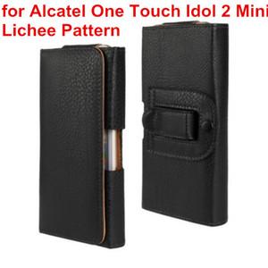 El más nuevo estuche de la cintura funda de cuero de la PU de la PU Clip de la bolsa de la funda para Alcatel One Touch Idol 2 Mini S 6036 6036Y bolso del teléfono