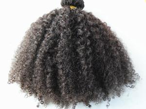 Extensions de cheveux humains péruviens 9 pièces avec 18 clips Clip dans les produits brun foncé Naturel Naturel Couleur Afro Kinky Curl