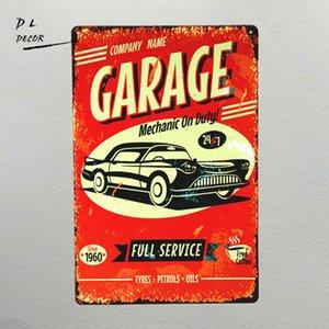DL- TIN SIGN Garage Mécanicien en devoir shabby chic Décor De La Médaille Mur Art Gas Garage Shop Bar Sticker Mural