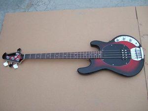 Fábrica da guitarra do OEM, guitarra baixa elétrica da corda do musicman 4, corpo do basswood, guitarra baixa feita sob encomenda do pescoço do bordo