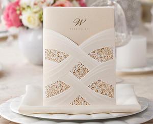 Персонализированные карточки приглашения венчания отрезка листа печатания приглашения венчания полости шнурка свободные внутренние