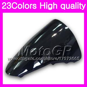 Pare-brise 23Colors Pour HONDA VFR800 07 08 09 10 12 VFR 800 VFR800RR 2007 2008 2009 11 2012 Chrome Noir pare-brise GPear Smoke