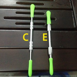 Cruce de acero inoxidable de alta calidad dab cera romper herramientas de cera de silicona herramienta dabber con EGO HERRAMIENTA para ecig atomizador 5