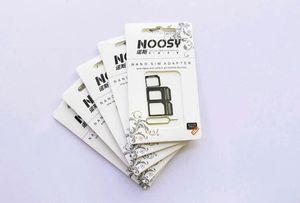 Noosy Nano Micro standard carte SIM Nano Sim Convertion Convertisseur adaptateur de carte Micro pour iPhone 6 Plus Tous les périphériques mobiles S10