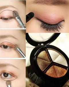 Novo 2015 Smoky cosmetic 3 cores paleta de maquiagem natural fosco sombra Nu frete grátis DHL 60055