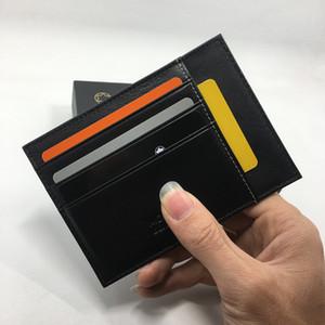 Portafoglio di carta di credito in pelle nera genuino Classic Driver Driver Portafoglio di alta qualità Mens ID Card Case Thin Purse 2017 Nuovi arrivi Fashion