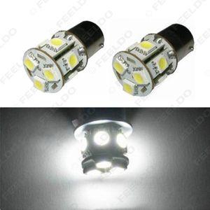 2pcs белый 12V 1156 BA15S P21W Автомобильные светодиодные 13SMD 5050 Brake Tail поворотник электрической лампочки # 3069