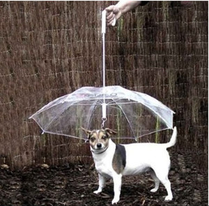 Cool Pet Supplies Utile trasparente PE Pet Umbrella Small Dog Umbrella Rain Gear con Dog Leads Mantiene Pet asciutto confortevole in caso di pioggia