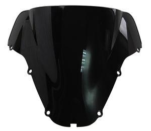Motocicleta dupla bolha pára-brisa WindScreen para 2000-2001 Honda CBR900RR CBR 900 RR 929 00 01 preto