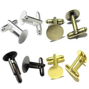 Beadsnice mens bijoux boutons de manchette dos avec coussinet rond en laiton boutons de manchette composants boutons de manchette français mix mix style ID 32266