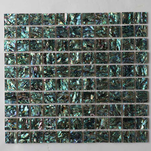 Natural Green color Abalone shell sheet tile, mother of pearl shell mosaic Tile, for background, border used #MS100