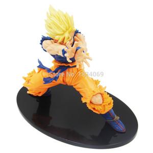 Anime japonês Dragon Ball Z 1 pcs 7 polegada / 18 cm Son Goku PVC brinquedo modelo figura de ação para o presente de brinquedo garoto Frete grátis