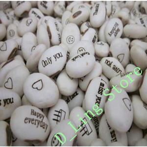 100 pcs Magic Growing Message Beans Seeds White English Magic Bean Bonsai Green Home Decoration