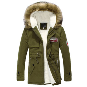 Winter Casual Canada Mens fur collar coat army green outwear coats military man jacket ropa hombre winter jacket men Parka Coats