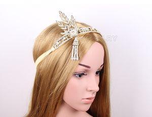 2015 The Great Gatsby Accessori per capelli Strass Bride Hair Belts Beach Wedding Head Bands Accessori TS00172