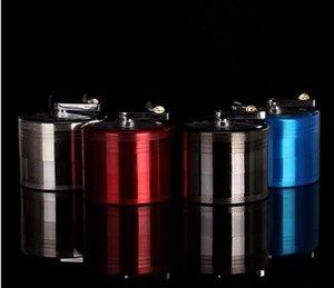 Grinding Smoke Device 4 Layers Hand 63mm Smoke Filler Raccordi per tubi in metallo