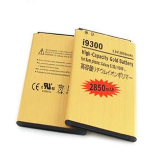Beste Verkauf Einbau-Goldbatterie Außen Batterij für Samsung Galaxy S3 SIII I9300 mit hohen Kapazität Gold-2850mAh 15 Länder 10pcs / lot