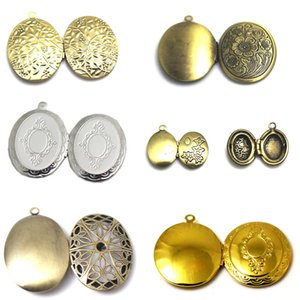 Beadsnice vintage locket women pendants photo lockets brass necklaces pendants family locket mothers day gift ID 32272