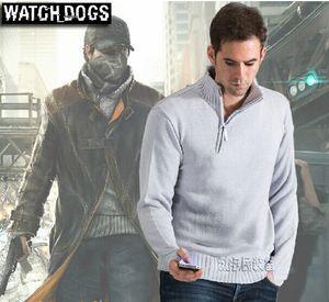 Il maglione degli uomini del costume di Aiden Pearce del maglione dei maghi di Watch Dogs di buona qualità M L XL XXL libera il trasporto
