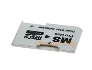 Micro SD TF to Memory Stick MS Pro Duo for Converter PSP 1000 2000 3000 Card Dual Slot Adapter Converter