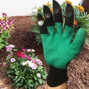 Guanti da giardino Genie per scavare piantare unisex 4 artigli facile strada per giardino scavare guanti da piantagione impermeabile resistente alle spine