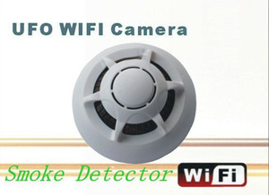 Detector de humo WiFi DVR UFO mini cámara IP P2P Mini DVR Video Recorder para iPhone ipad teléfono Android