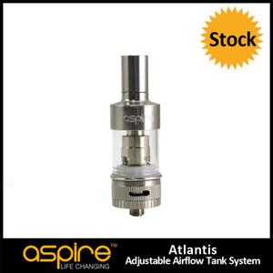 Оптовая 100% оригинал Ecig Aspire Atlantis новые Sub ом атомайзер танк Atlantis Clearomizer Pyrex стеклянный бак замена катушки атомайзер