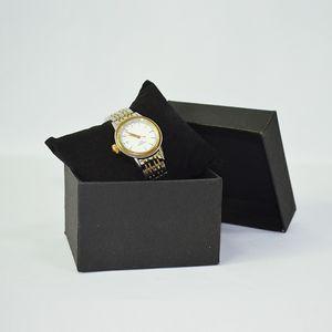 5pcs Gioielli confezioni regalo scatole di vigilanza di immagazzinaggio con Black Velvet Cuscino Copricuscino del braccialetto del supporto dell'esposizione