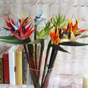 Real Touch Bird of Paradise Flower 70cm 12Pcs / lot Fiori artificiali Strelitzia reginae per centrotavola