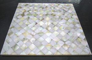8mm de espessura ouro branco madrepérola shell mosaico de cozinha backsplash telhas MOP100 shell telhas banheiro mãe de pérola