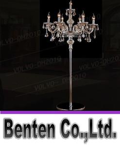 llfa787 7 cabeças luz de cristal lâmpada de assoalho de cristal de luxo quarto vela lâmpada de assoalho de cristal lâmpadas de assoalho de pé de luxo Vintage