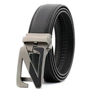 Novos designers De Luxo de alta Z Liga dos homens agio fivela automática cinto preto Cintos de Designer de homens calças de brim cinto