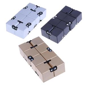 Novedad infinito Cube Cubo de la persona agitada del bebé niños de juguete del cuadrado mágico Anti Stress ADHD Autismo de juguete Rompecabezas Juguetes para adultos Niños de plástico cubo mágico