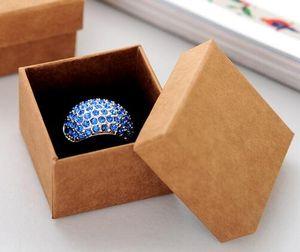 Yüksek Kalite Mücevher Kutusu / Severler Halka Kutusu / Hediye Paketi / Kadınlar Için Kraft kağıt Kutusu Takı Saklama kutusu ekran 5 * 5 * 3.8 cm
