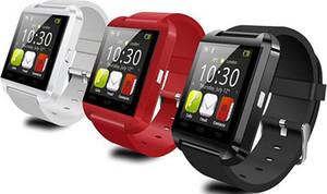 Bluetooth U8 Reloj inteligente Relojes de pulsera con altímetro para iPhone 4 4S 5 5S Samsung S4 S5 Nota 2 Nota 3 HTC Teléfono Android en caja de regalo