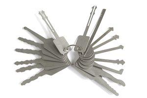16pcs / lot Touches Jiggler Keys Verrouillage Tools Tools de verrouillage Set Ensemble pour outils de sélection de verrouillage double face pour ouvre-auto
