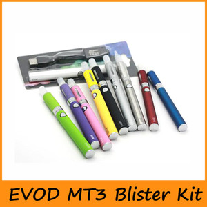 New EVOD MT3 Blister Kit Evod Starter Kit With Evod Battery Mt3 Atomizers Clearomizer Rechargable 650mah 900mah 1100mah Mix colors Available