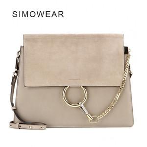 2017 جديد حار بيع أزياء ماركة شعبية تصميم النساء جلد طبيعي حقيبة cloe جودة عالية ريال cowskin حقيبة الكتف سلسلة الجهاز حقيبة