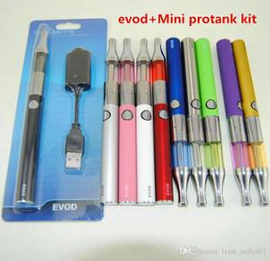 eGo eVod Mini Kit Protank Starter Com Mini protank 1 Vaporizador Atomizador canetas vape eVod 650mAh 900mAh 1100mAh Bateria blister pack kits DHL