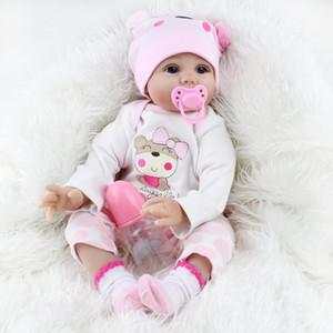 54 cm lifelike bebê renascido vinil de silicone macio toque real boneca adorável bebê recém-nascido reborn baby dolls
