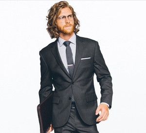 suit men hot selling groom suit collar dark gray for 2020 wedding tuxedo for man free shipping