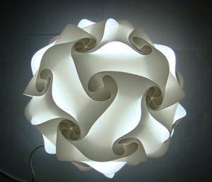 Diy moderno colgante bola novela iq lámpara rompecabezas colgantes de color blanco luces colgantes tamaño 25 cm / 30 cm / 40 cm Rompecabezas Infinity lámpara 9 colores disponibles