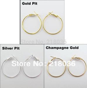 Старинные золотые / серебряные ювелирные изделия много круг баскетбол жены обручи серьги для женщин 40 мм A1773 DIY металл