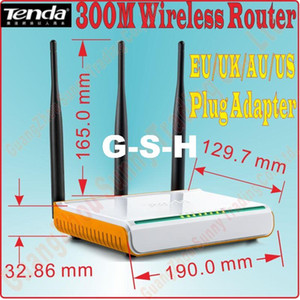 EU / UK / US / US / AU Plug New Tenda W303R W304R Беспроводной маршрутизатор 300MBPS WiFi с 4 портами широкополосного диапазона маршрутизатора Extender, Prom-