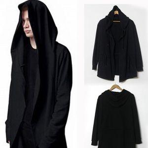 Großhandel-2015 Paar erweitert lange schwarze Hoodies Hip Hop Street Dance Sport Anzug Assassins Creed Herren Mit Kapuze Mantel Überleben Homme Y460