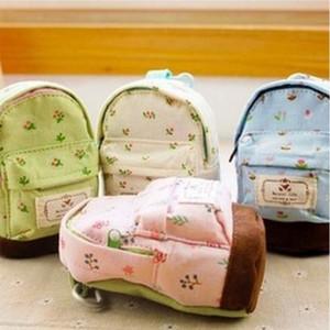 Porte-monnaie mignon kawaii en toile en toile mini-sac à dos floral frais Mori Girls pièce de monnaie pochette porte-monnaie sacs à main pochette Mini sac